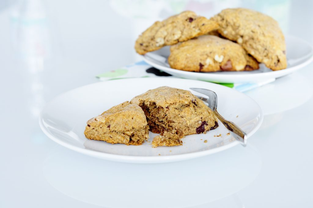 Whole Wheat Chocolate Walnut Scones Recipe - Vegan Family Recipes
