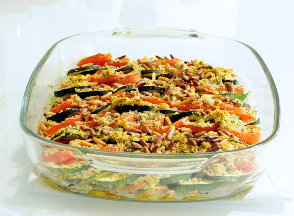 Zucchini Tomato Vegetable Tian Recipe - Vegan Family Recipes