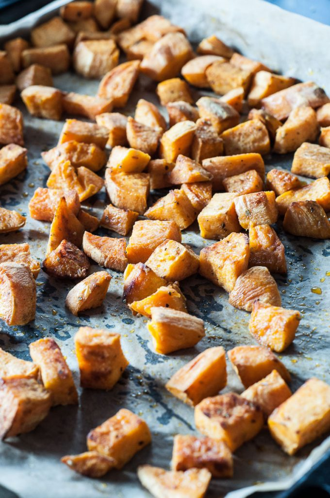 Roasted Sweet Potatoes Salad Recipe - Vegan Family Recipes