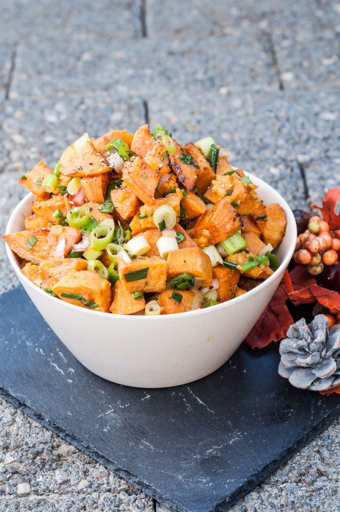 Vegan Gluten free Sweet Potato Salad Recipe - Vegan Family Recipes