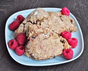 Vegan Chocolate Raspberry Scones Recipe - Vegan Family Recipes