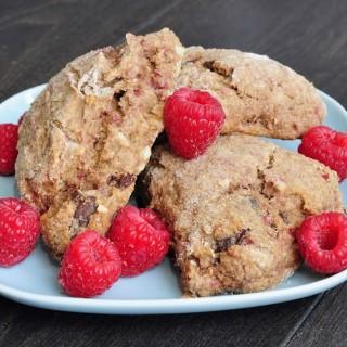 Raspberry Chocolate Almond Scones
