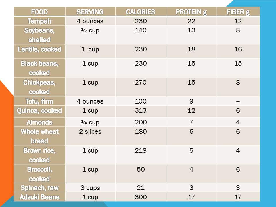 Tempeh nutrition protein grams