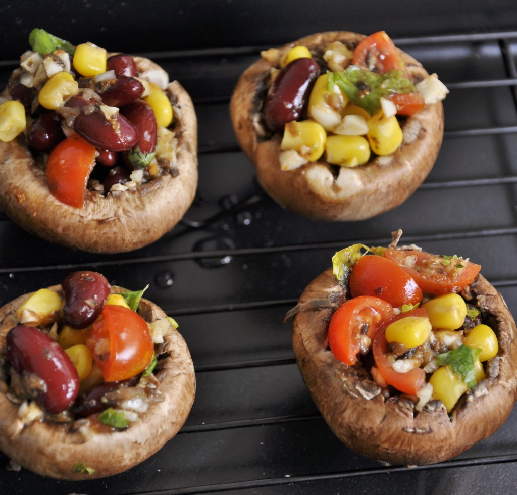Easy Grilled Stuffed Mushrooms - Vegan Family Recipes