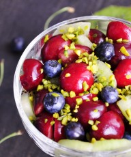Antioxidant Fruit Salad Recipe with Cherries and Blueberries - Vegan Family Recipes