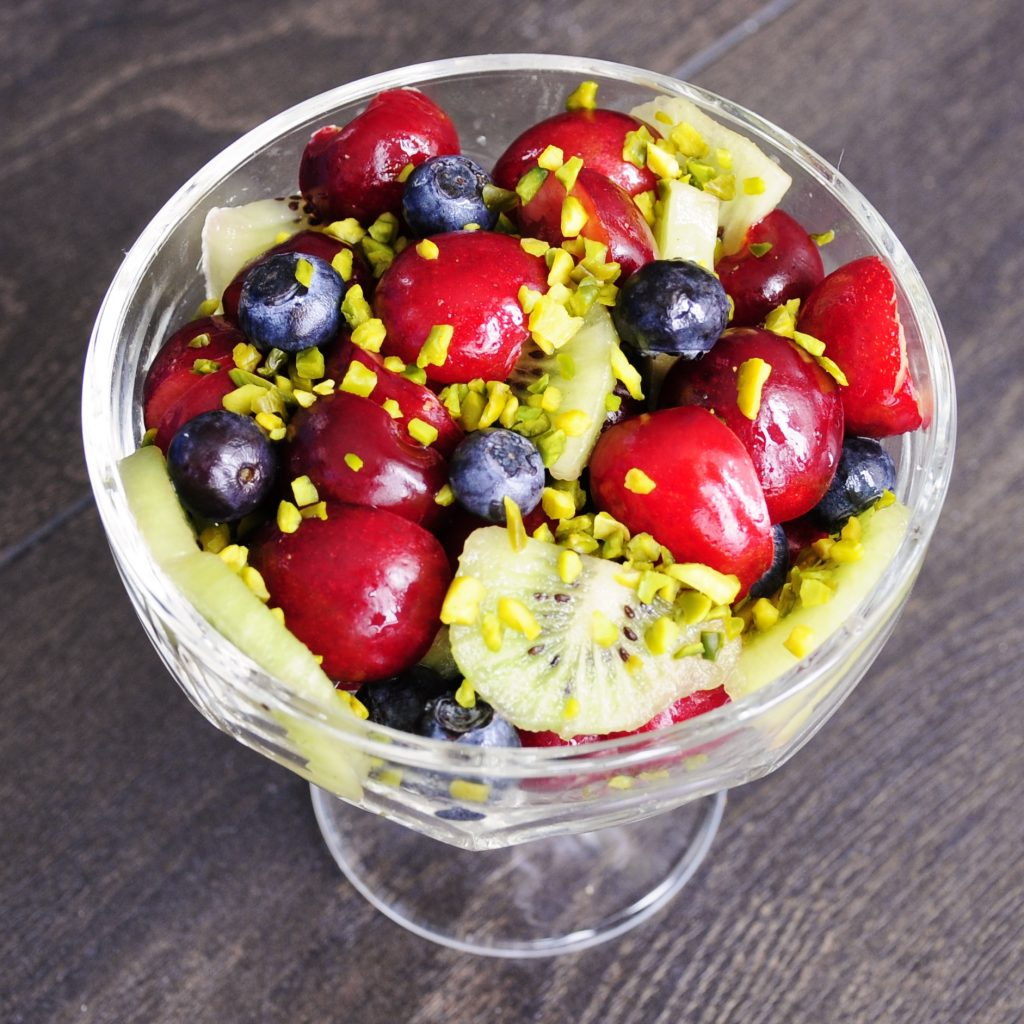 Antioxidant Cherry Fruit Salad Recipe with Kiwi - Vegan Family Recipes