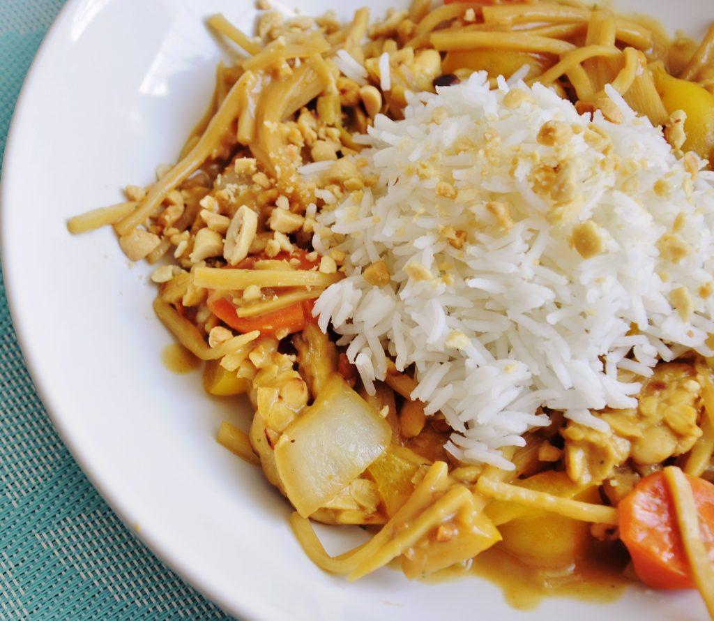 Peanut Sauce and Tempeh Stir fry Recipe - Vegan Family Recipes