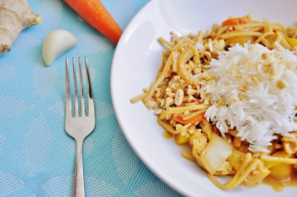 Tempeh Stir Fry with Peanut Sauce Recipe - Vegan Family Recipes