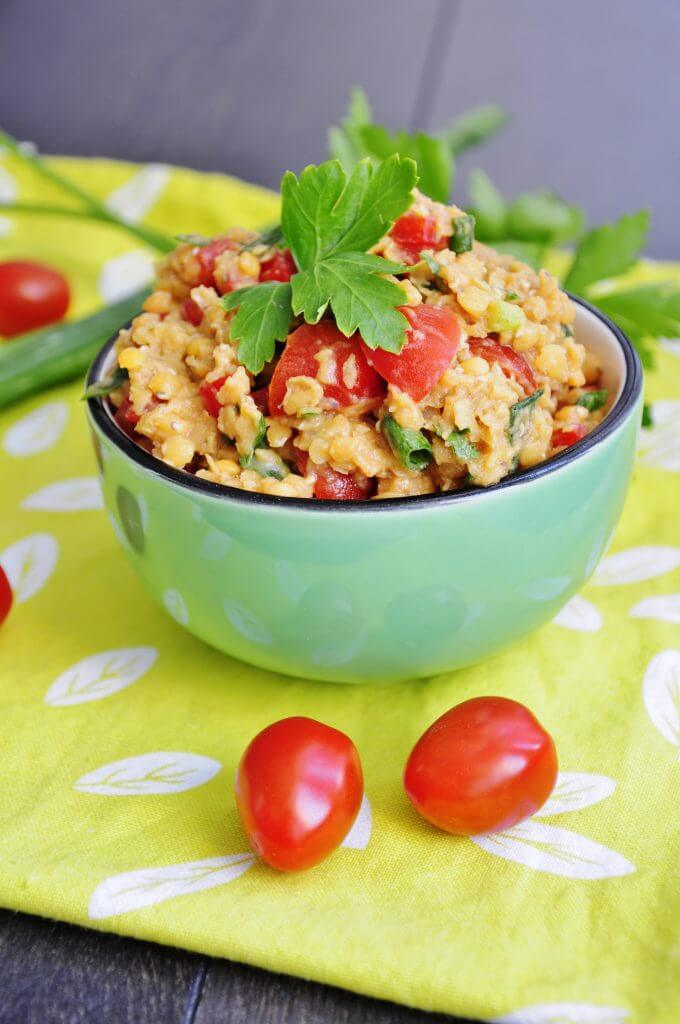 Easy Red Lentil Salad Vegan Family Recipes
