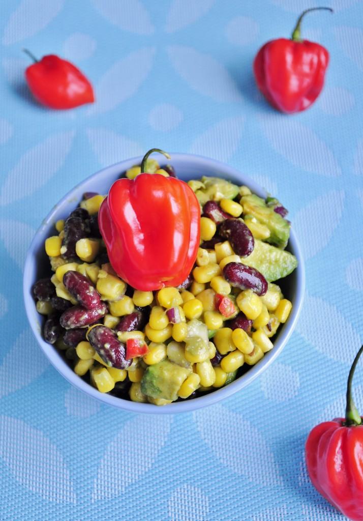 Habanero Corn Salsa - Vegan Family Recipes