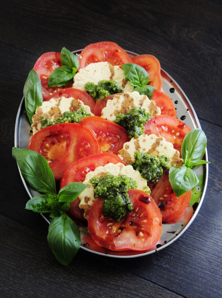 Tofu Caprese Salad Recipe - Vegan Family Recipes