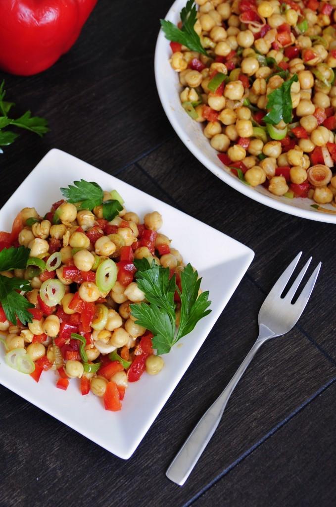 Healthy and Easy Chickpea Salad Recipe - Vegan Family Recipes