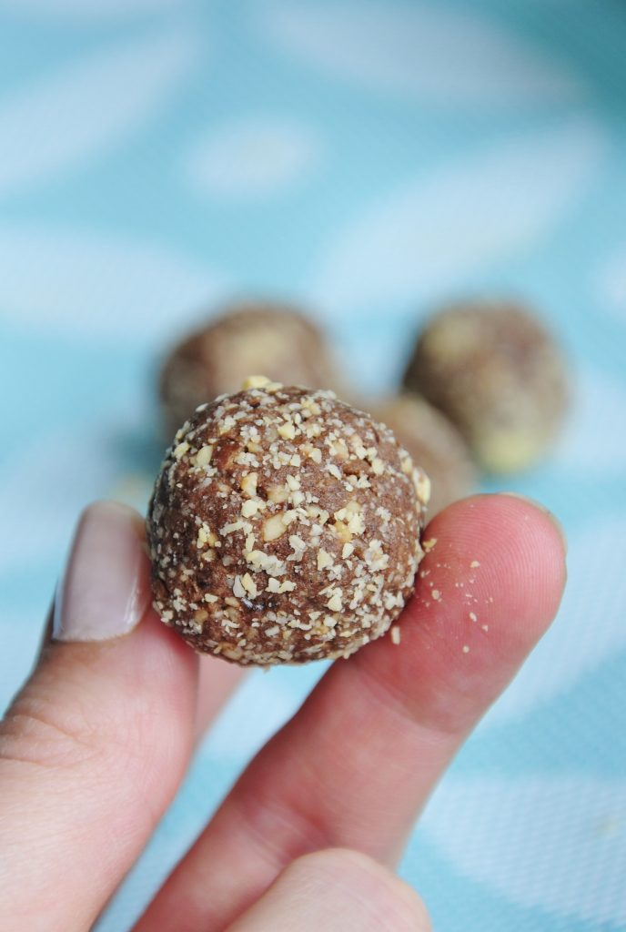 Chocolate Peanut Vegan Protein Balls Recipe - Vegan Family Recipes
