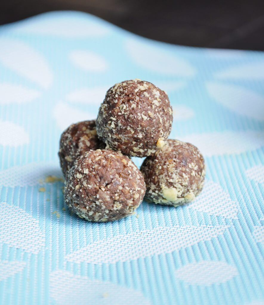 Chocolate Peanut Protein Balls - Vegan Family Recipes