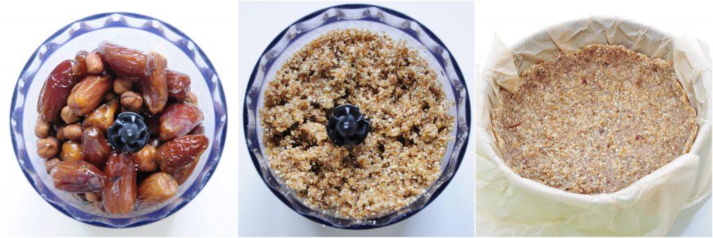 Vegan Cheesecake Crust Recipe Ingredients with nuts and dates - Vegan Family Recipes #dessert #glutenfree #gf