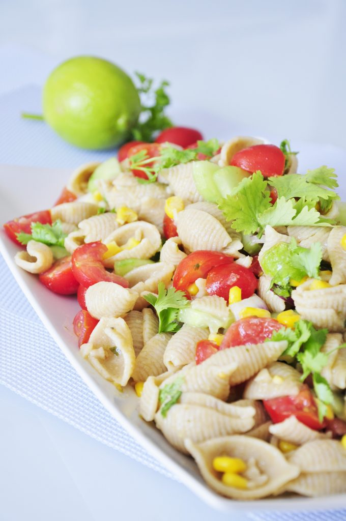 Whole Wheat Pasta Salad Recipe - Vegan Family Recipes