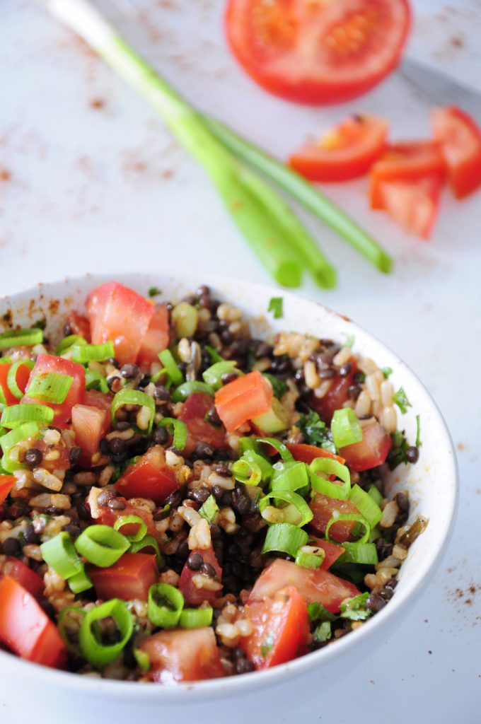 Beluga Black Lentil Salad With Rice Vegan Family Recipes