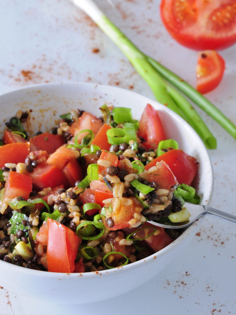 Beluga Lentil Salad Recipe - Vegan Family Recipes