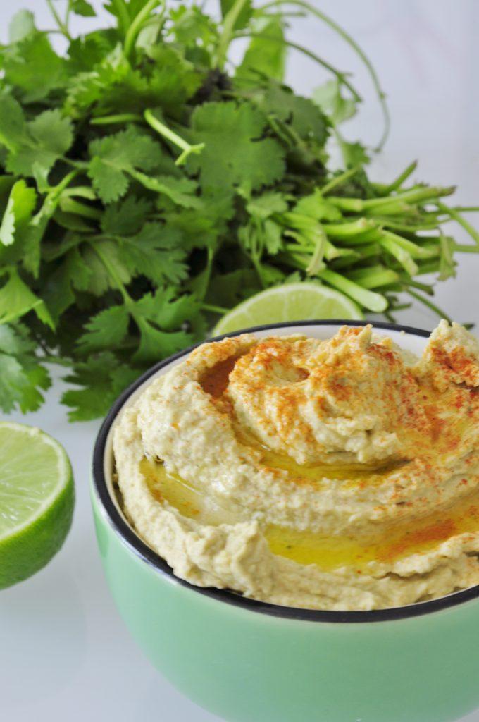 Cilantro Hummus Recipe - Vegan Family Recipes