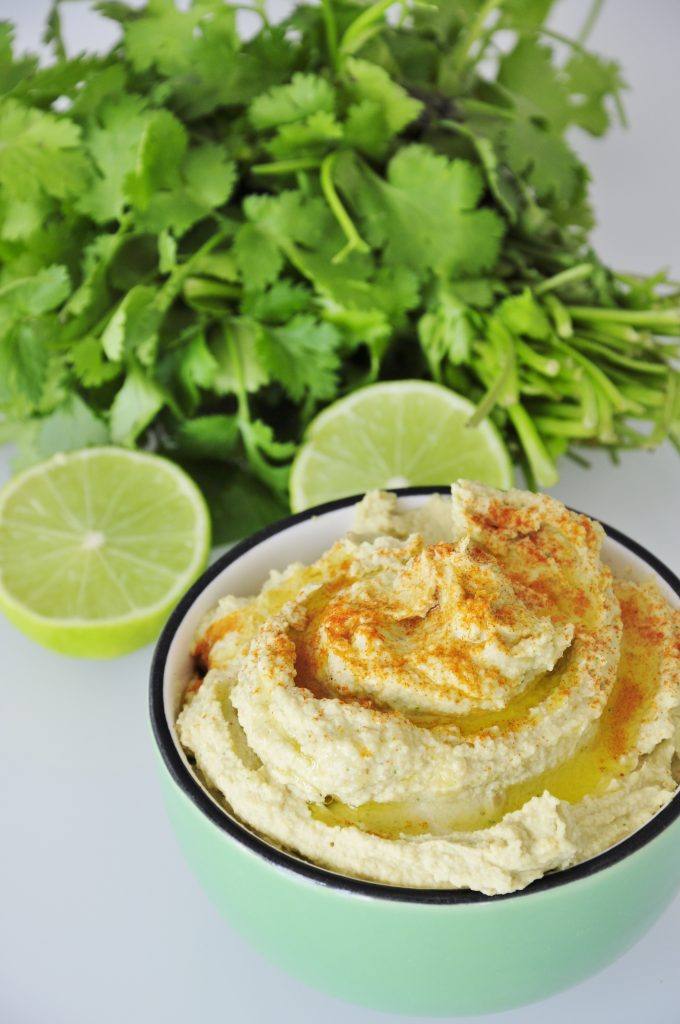 Lime Cilantro Hummus Recipe - Vegan Family Recipes