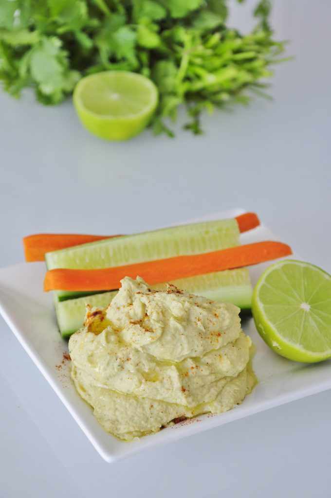 Lime Cilantro Hummus Dip Recipe - Vegan Family Recipes