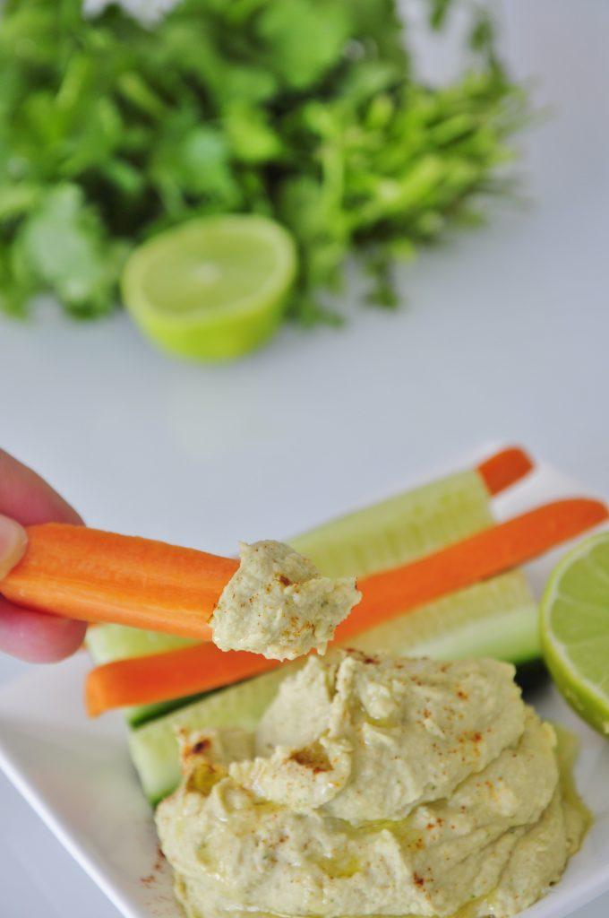 Cilantro Lime Hummus Dip Recipe - Vegan Family Recipes