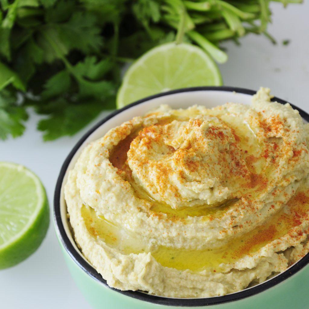 Fresh Lime Hummus Dip Recipe - Vegan Family Recipes