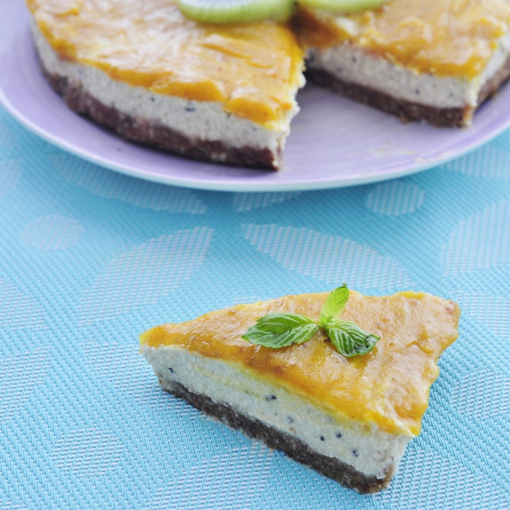 Vegan Kiwi Mango Cheesecake was roughly adapted and inspired from ...