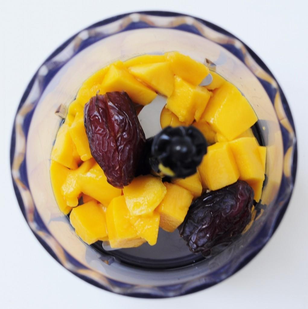 Mango Medjool Date Food processor Recipe - Vegan Family Recipes