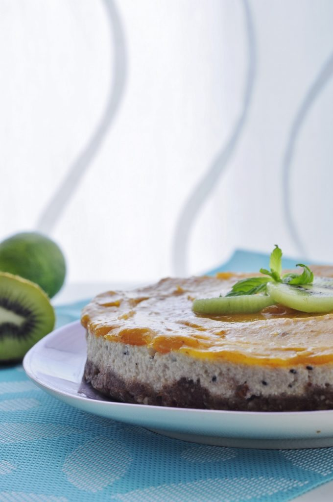 Mango Kiwi Cheesecake Recipe - Vegan Family Recipes