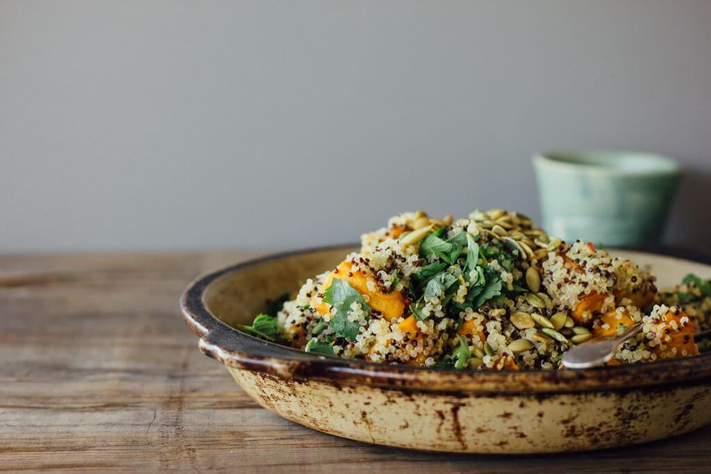 how to make pumpkin quinoa salad