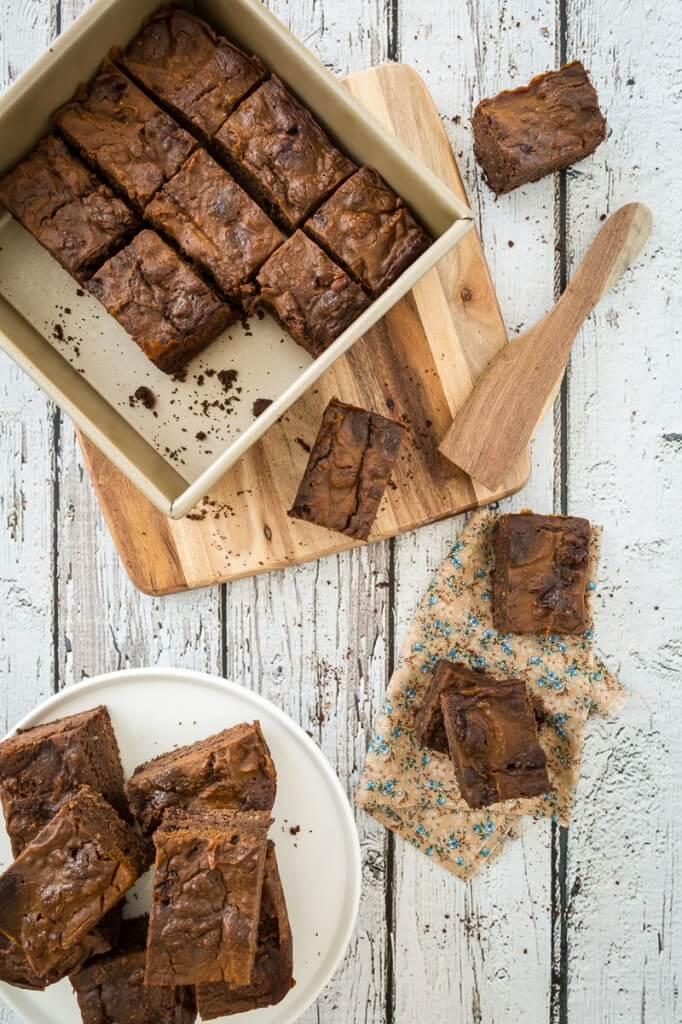 Pumpkin Swirl Brownies - Vegan Recipe Gluten Free