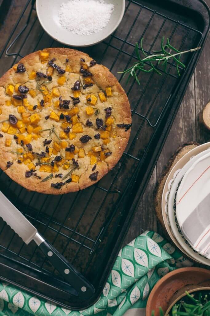 Pumpkin and Rosemary Focaccia Bread Recipe