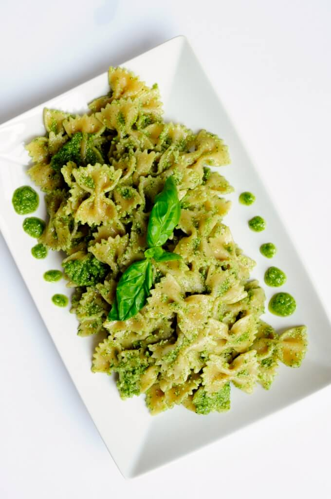 Cilantro Basil Pesto Pasta Recipe - Vegan Family Recipes