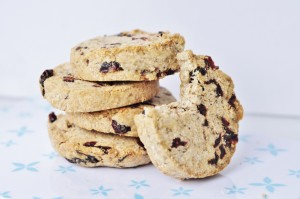 Nut Butter Cookies Recipe with Cranberries - Vegan Family Recipes
