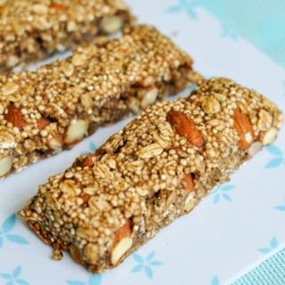 Puffed Quinoa Oat Bars