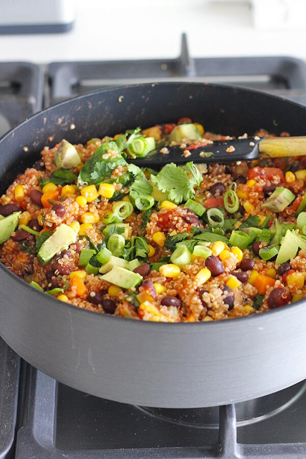 One Pot Mexican Quinoa Vegan Recipe