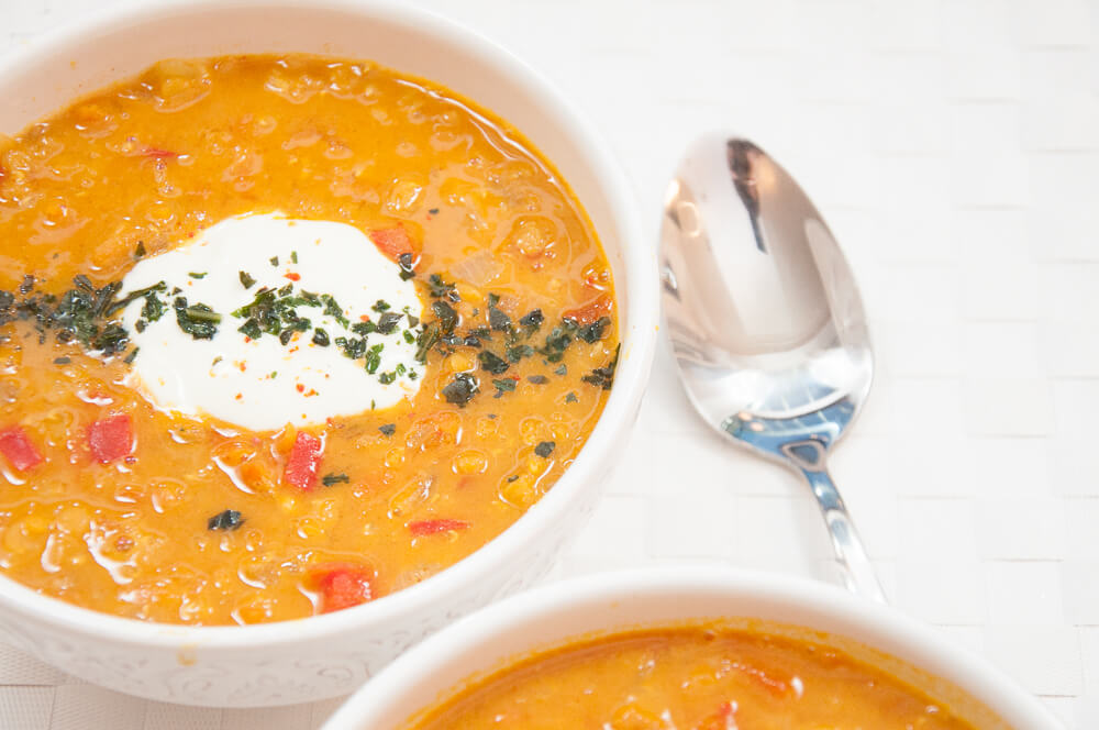 Red Lentil Curry Soup Recipe - Vegan Family Recipes