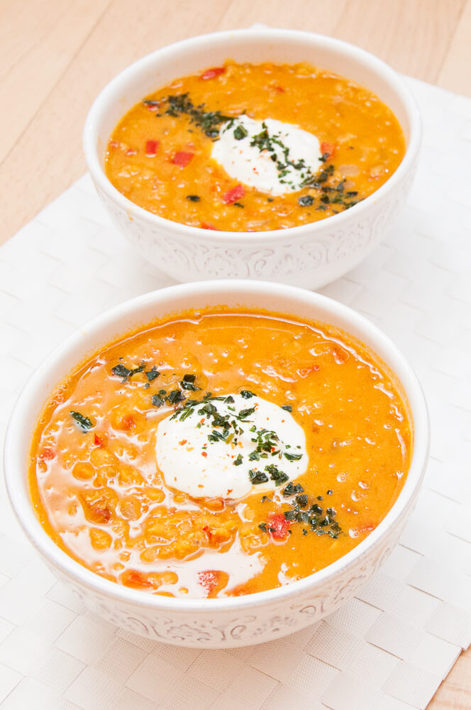 Red Lentil Soup with Carrots - Vegan Family Recipes
