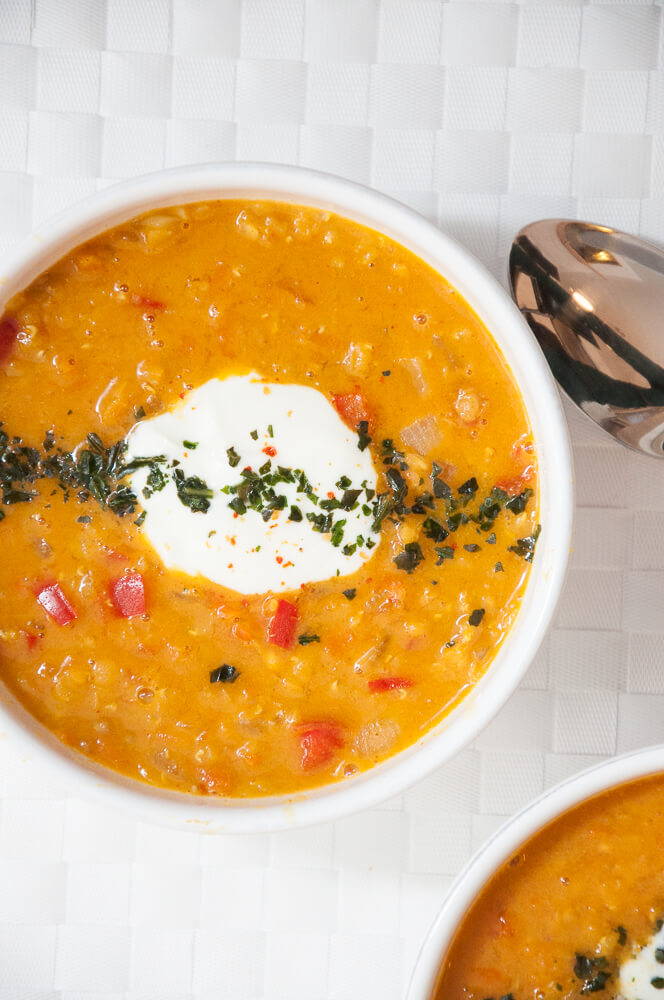 Red Lentils Carrot Soup Recipe - Vegan Family Recipes