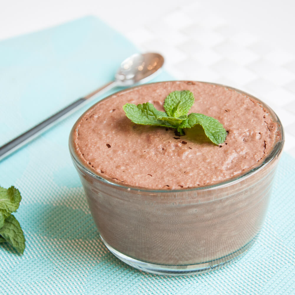 Chocolate Coconut milk mousse with Mint Recipe - Vegan Family Recipes