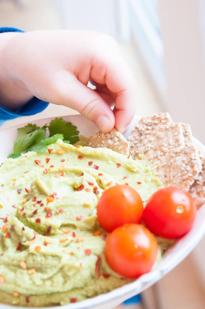 Healthy Avocado Hummus Recipe - Vegan Family Recipes