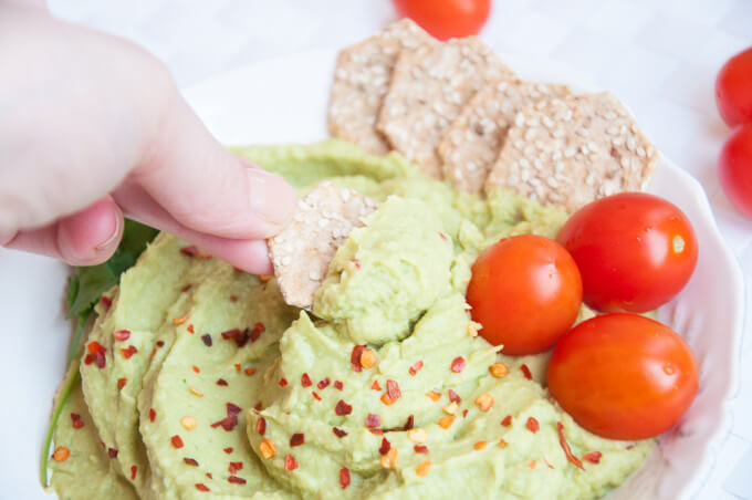 Avocado Hummus Recipe without Tahini - Vegan Family Recipes