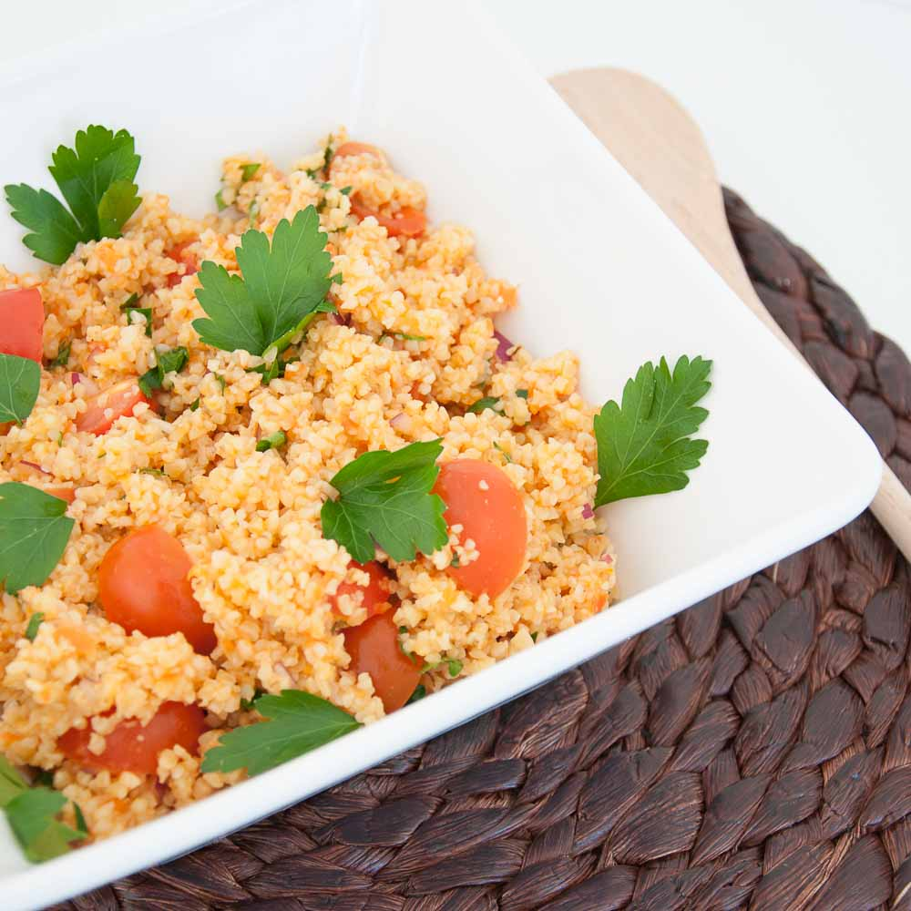 Vegan Bulgur Salad Recipe - Vegan Family Recipes