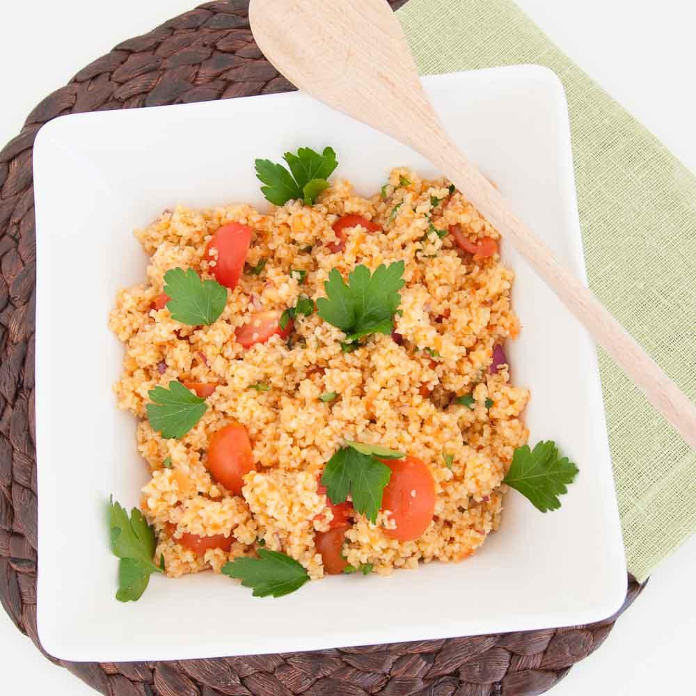 Easy Bulgur Salad - Vegan Family Recipes