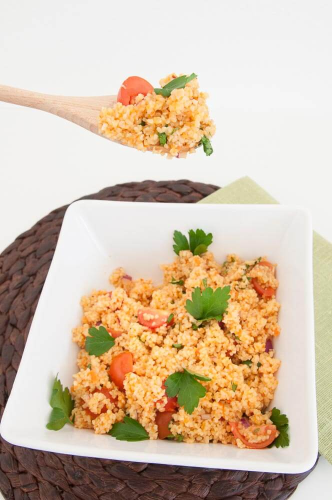 Bulgur Wheat Salad Recipe - Vegan Family Recipes