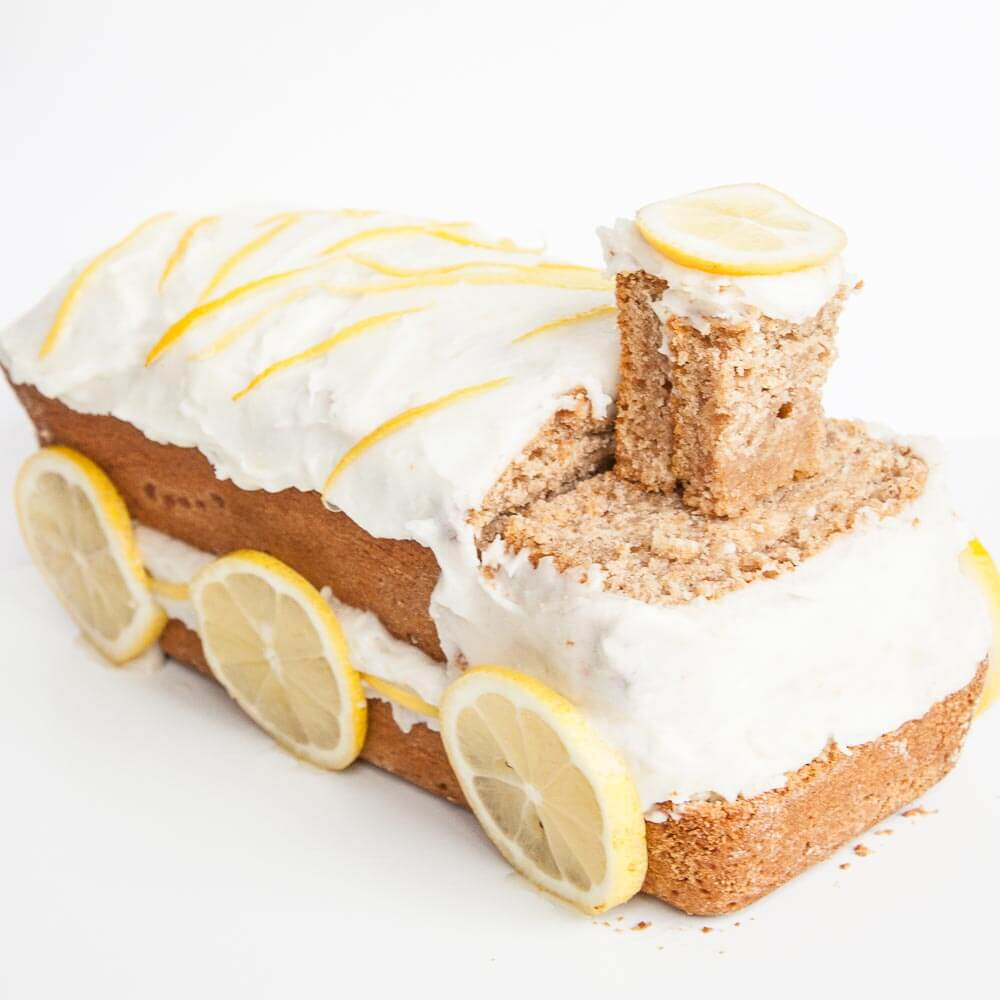 Healthy Birthday Cake Lemon Train - Vegan Family Recipes