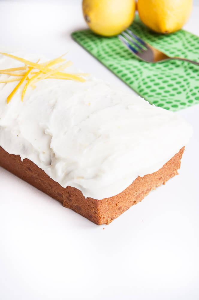 Eggless Lemon Loaf Cake Recipe - Vegan Family Recipes