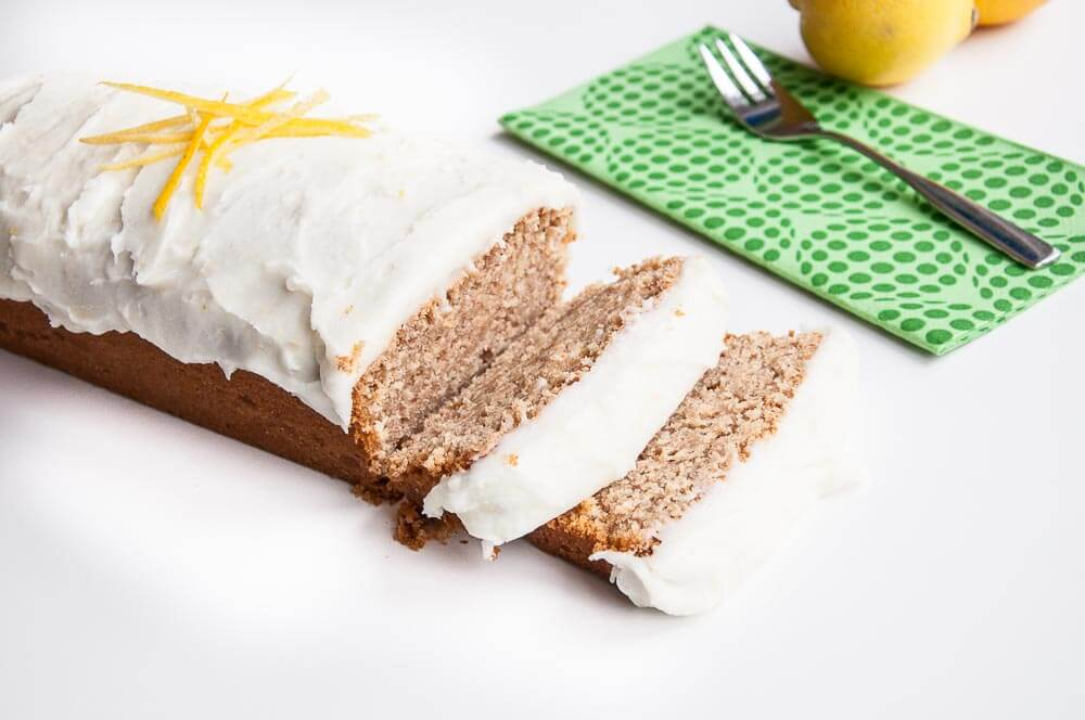 Whole wheat Lemon Loaf Cake Recipe - Vegan Family Recipes