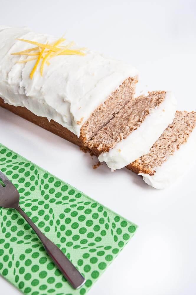 Whole grain Lemon Loaf Cake Recipe - Vegan Family Recipes